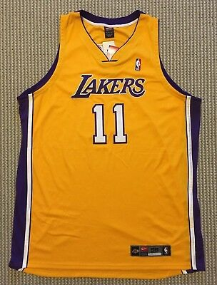 81bd3ab24c8 Karl Malone #11 NBA Nike Authentic Los Angeles Lakers Home Gold Jersey 56  NWT
