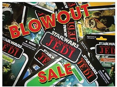 "BLOWOUT SALE! Kenner STAR WARS ""RETURN of the JEDI"" Vintage 5"" patch GLOBAL"