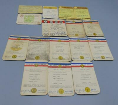 Vintage Boy Scouts BSA Training Certificates John Purnell Linzey BAC Troop 172