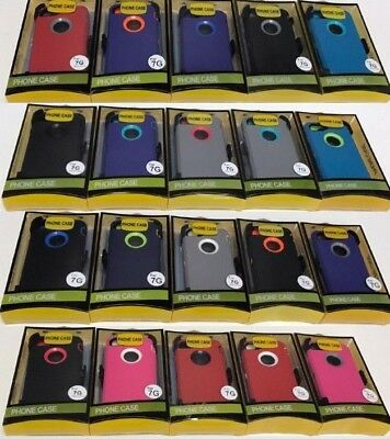 NEW For Apple iPhone 7 Heavy  Case Cover w /(Belt Clip fits Otter box Defender)