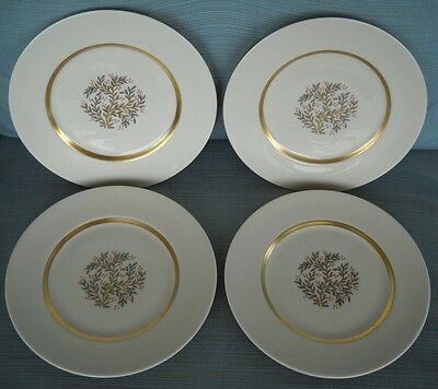 FRANCISCAN china FREMONT (4) SALAD or LUNCH PLATES red berries & leaves (set 3)