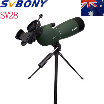 SVBONY Angled 25-75x70mm Zoom Spotting Scope Waterproof +Cell Phone Adapter AU