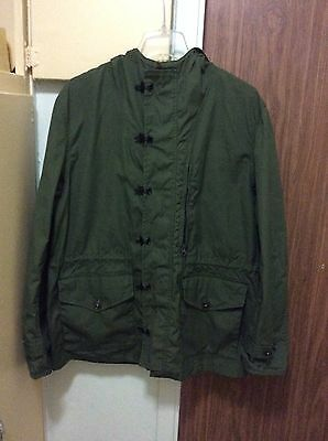 jcrew mens sport military jacket with hoodie size large Sporting Goods