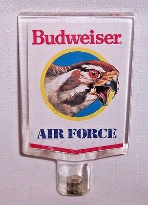 RARE VINTAGE BUDWEISER Air Force Beer Tap Handle tapper Kegerator or Faucet