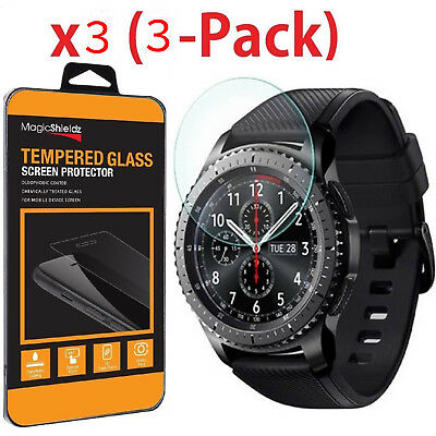 3X Tempered Glass Protector for Smart Watch Samsung Gear S2/S3 Classic Frontier