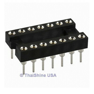 5 x 14 Pin Machine Tooled IC Socket - USA Seller - Free Shipping