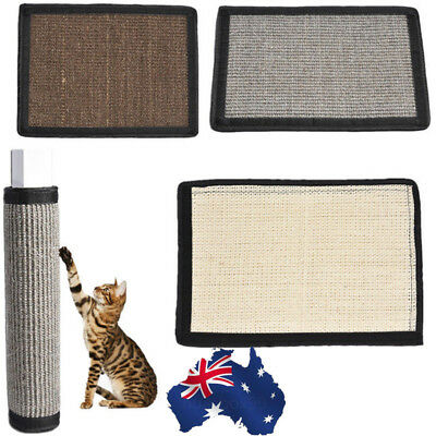 AU!! Furniture Sisal Hemp Cat Scratch Board Mat Cat Scratching Post Toy Pet Tool