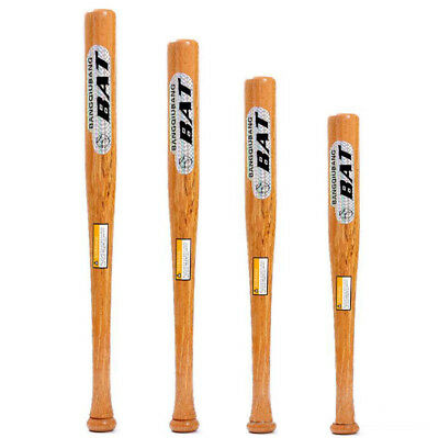 Wood Baseball Bat 25/28/31Inch Solid Wood Self- defense Adult Kids Bats Training