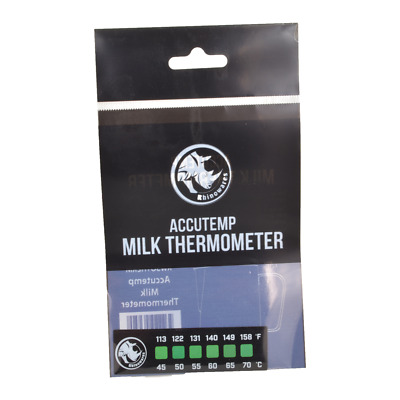 Rhino Rhinoware Accutemp Thermometer Stick on Milk frothing Jug coffee sticker
