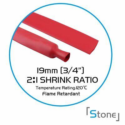 """10ft Red 3/4"""" Heat Shrink Tubing Wire Cable Wrap Electrical Connection 2:1 Ratio"""