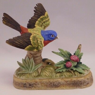 """Collectors Porcelain Art: 1973   """"Painted Bunting"""""""
