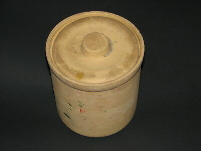 RRP Co Robinson Ransbottom Roseville old crock jar lid early rare unglazed