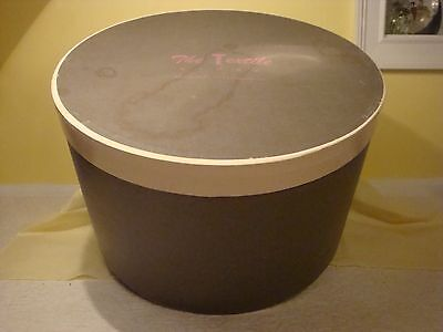 Atq Hat Box Pink Rope & Pink Lettering Gray & Cream Color The Textile Store