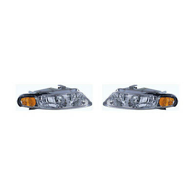 Fits 1997-2000 Chrysler Sebring Coupe Headlight Pair CH2502130+CH2503130