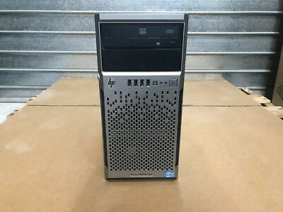 HP ProLiant ML310E E3-1240 V2 Quad Core 3.4Ghz 16GB P410 w/1gb cache 2x PSU