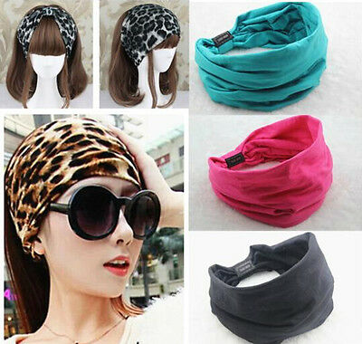 Ladies Cotton Turban Twist Head Knot Headband Wrap Twisted Knotted Hair Band Hot