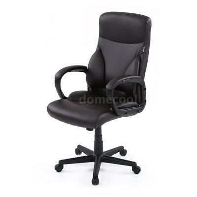 Leather Executive Chair Office High Back Desk Computer Swivel Gaming Seat V8M2