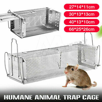 Animal Trap Cage Humane Live Possum Fox Rat Cat Rabbit Hare Catch LARGE/SMALL