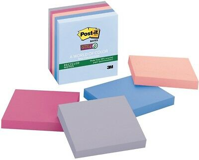 Post It Recycled Super Sticky Notes, 3 X 3, Bali Collection, 5 Ct