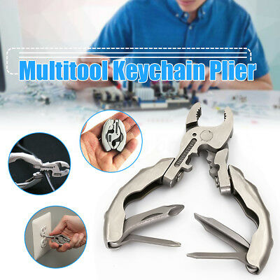 9 in 1 Multi Function Keychain Plier Crimper Screwdriver Folding Pocket Tools