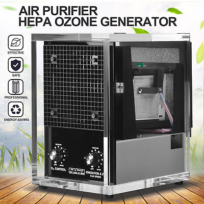 Commercial 6 Stage Air Purifier Cleaner HEPA UV Ozone Generator Odor Remover