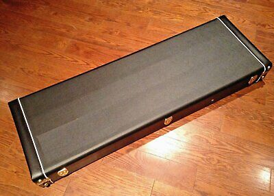 Universal Electric  Guitar Hard Case Wooden Shell Lockable Carrying Case