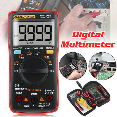 ANENG AN8009 True RMS NCV Digital Multimeter 9999 Counts Backlight AC/DC Current
