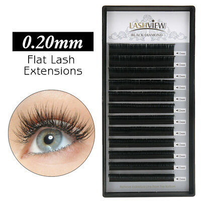 LashView Luxury 0.20mm Ellipse Flat Eyelash Extensions Semi Permanent Lashes