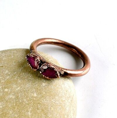 1 Pc Natural Ruby Excellent Cut Design Attractive Woman Gemstone Ring Jewelry