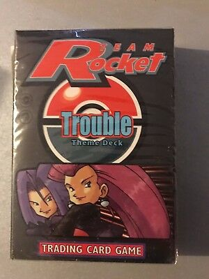 "RARE Pokemon TCG TEAM ROCKET  "" TROUBLE "" Theme Deck FACTORY SEALED 1999"