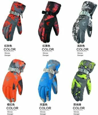 New Men's Winter Warm -30℃Waterproof Windproof Snow Snowboard Ski Sports Gloves