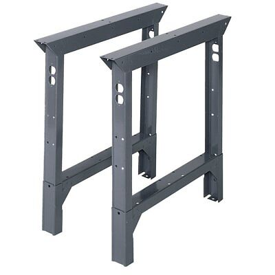Edsal  Workbench Legs 33 in. H x 2 in. W x 30 in. D Steel Adjustable Height 2 PK