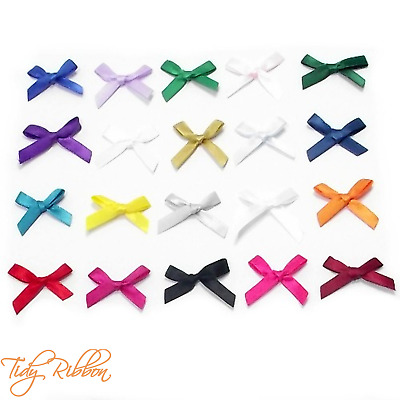 Mini Satin Bows 7mm Ribbon 5pk 10pk 50pk & 100pk Craft Party Wedding Gift Card
