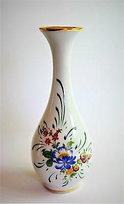 Elegant Vase, Limoges La Reine. Lovely Floral & Gilt Decoration.