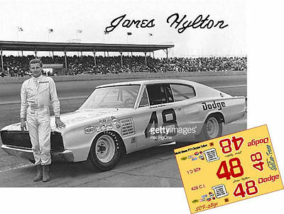 CD_2891 #48 James Hylton 1965 Dodge Charger  1:25 Scale Decals
