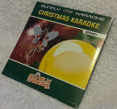 Karaoke cdg Christmas disc SFXM01,Sunfly Xmas Karaoke,see Description,20 trks