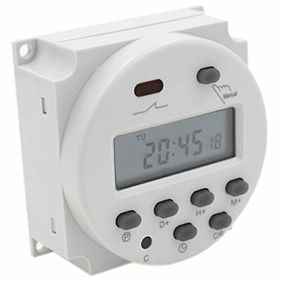 Digital LCD Power Weekly Programmable Timer Relay Switch 12V 16 Amp