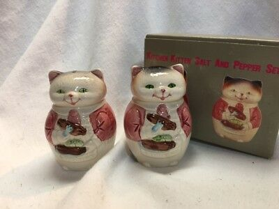 VINTAGE RON GORDON Kitchen Kitten SALT AND PEPPER SHAKERS New in Box