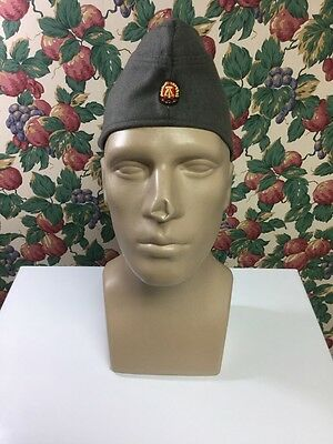 Vintage 1980's West German Bamberger Military Army OD Garrison Hat Cap SIZE 57