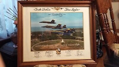 Blue Angels 2003 100Th Anniversary Flight Autographed Signed Framed Poster