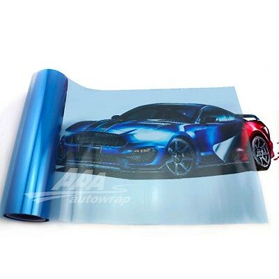 "12""x48"" Gloss Light Blue Smoke HeadLight Tailight Fog light Tint Film Sheet"
