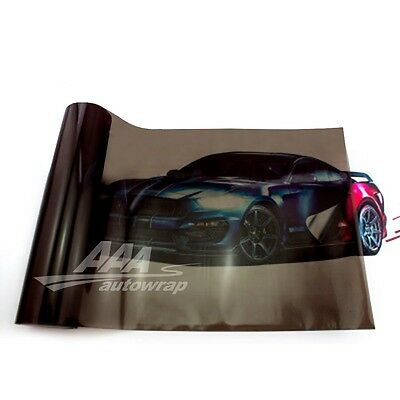"12""x48"" Gloss Black Dark Smoke HeadLight Tailight Fog light Tint Film Sheet"