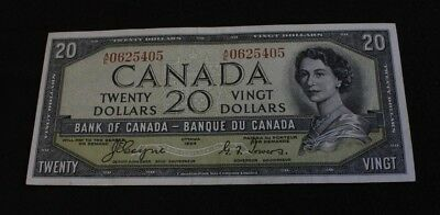 Bank note of Canada 1954 20$ Devil's Face Coyne Towers  BC-33a