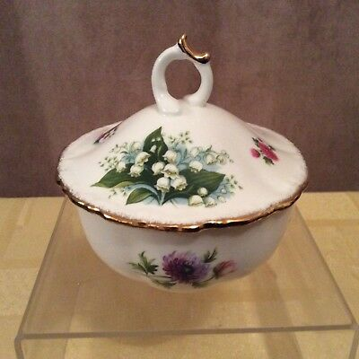 A Royal Albert Flowers of The Month Lidded Bowl