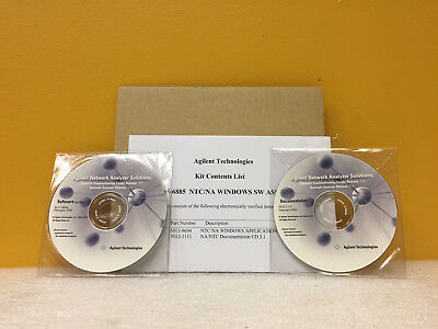 Agilent / HP 5065-6885 NTC / NA Windows Software Assembly. New!