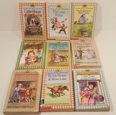 Complete Set Little House on the Prairie Paperback Book Set 1-9 Harper Collins