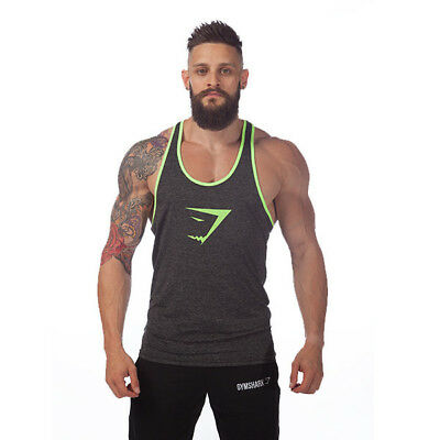 2018 2016 Newest Men Gym Tank Tops Gymshark Vest Stringer Bodybuilding Singlet 100 Cotton Sport Sportswear S Fitness Clothing Leisure From