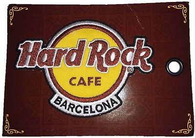 Hard Rock Cafe Barcelona Logo Patch Badge - New on Card