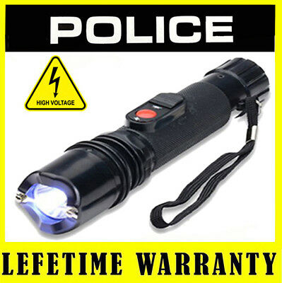 STUN GUN POLICE 305 28 BV Rechargeable With Tactical LED Flashlight