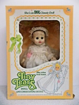 Vintage Tiny Tears Ideal Doll and Christening Outfit Adorable NIB